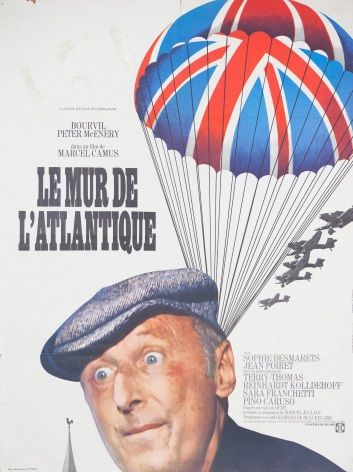vintage French movie poster - LE MUR DE L'ATLANTIQUE