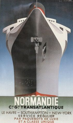 vintage French shipping poster - Normandie