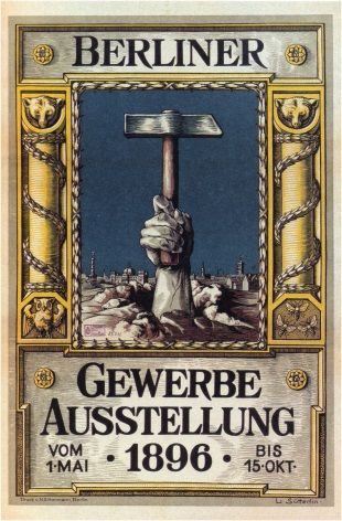 Vintage German poster - Berlin Trades Exhibition (1896)