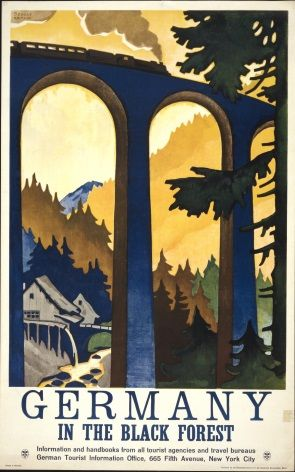 Vintage German poster - Germany, In the black forest