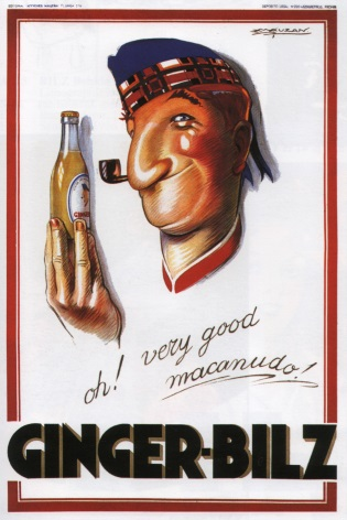 Vintage Ginger-Bilz Advertising Poster.