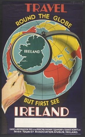 Vintage Irish poster - See Ireland First