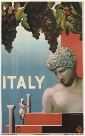 Vintage Italian Wine Travel Poster
