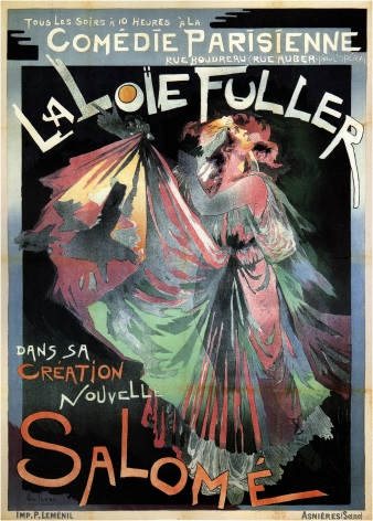 Vintage La Loie Fuller Salome, French Advertising Poster.