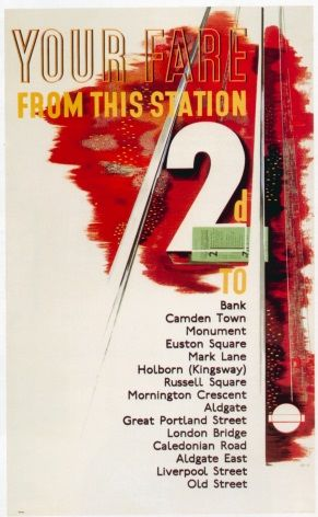 Vintage London underground poster - 2d from every station