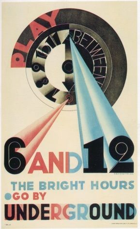 Vintage London underground poster - 6 and 12