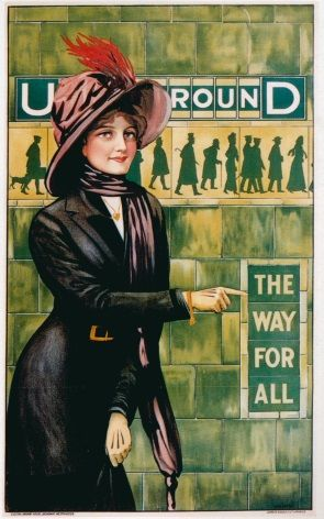 Vintage London underground poster - The way for all