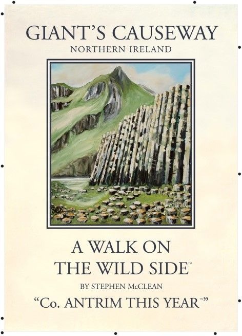 Vintage N Ireland Travel Poster Giant S Causeway