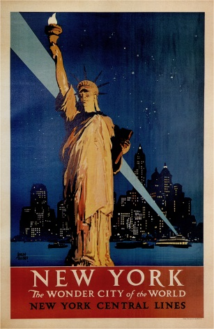 Vintage New York the Wonder City of the World Travel Poster