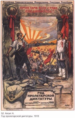 Vintage Russian Poster Civil War Era Poster