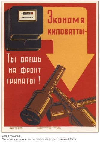 Vintage Russian poster - Russian industry 1945