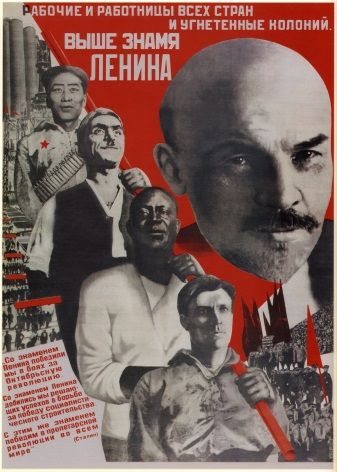 Vintage Russian poster - Working people of all countries and oppressed colonies.