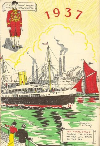 Vintage Shipping poster - The Royal Eagle 1937