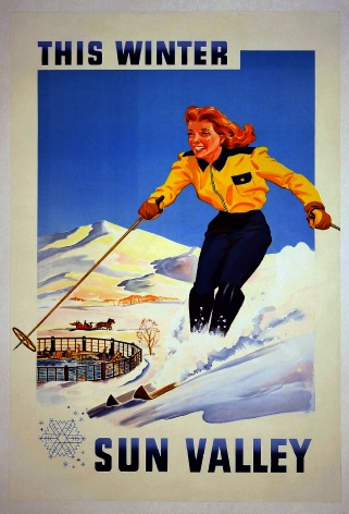 Vintage Sun Valley Travel Poster