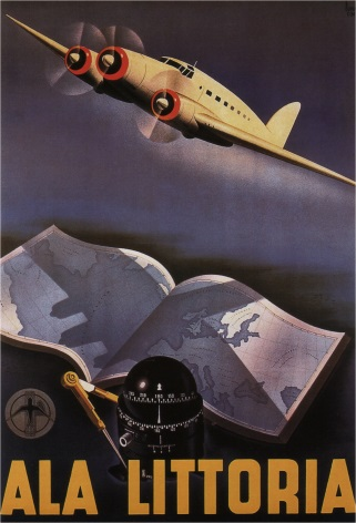 Vintage Travel Poster 1939 Ala Littoria