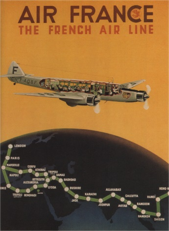 Vintage Travel Poster Air France