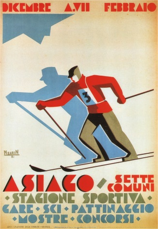 Vintage Travel Poster Asiago Italy