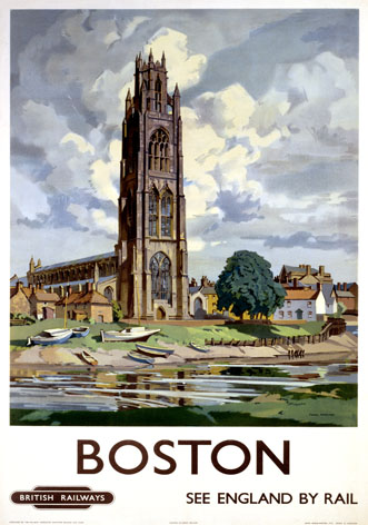 Vintage Travel Poster Boston Lincolnshire Vintage British