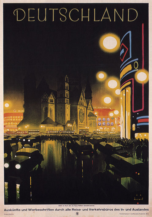 Vintage Travel Poster Deutschland Germany