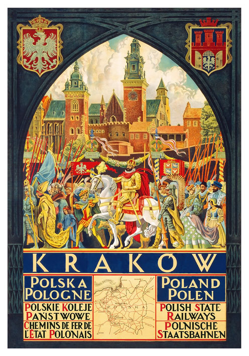 Poland for Krakow 1900/'s Classic Reproduction Vintage Travel Poster