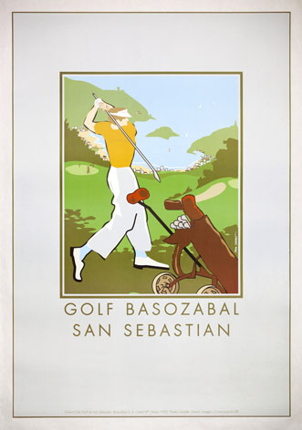 Vintage travel Poster San Sebastian Golf Resort, Spain