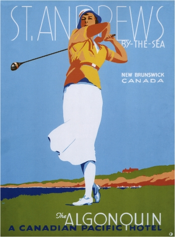 Vintage Travel Poster St.Andrews by the sea Canadian Pacific