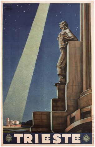 Vintage Travel Poster Trieste Italy