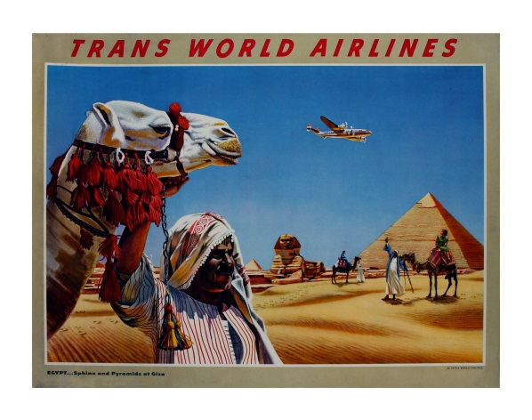 Vintage Travel Poster. Trans World Airlines, Egypt.