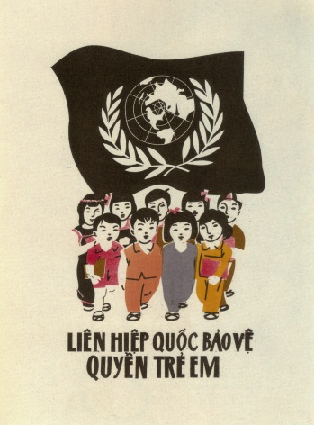 Vintage Vietnam Propaganda Poster, The Convention on the Rights of the Child