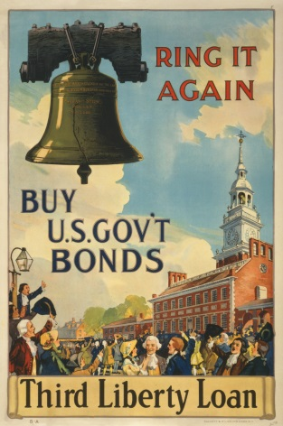 "Vintage War Poster ""3rd Liberty Loan"" Philadelphia"