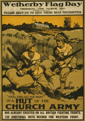 "Vintage ""Wetherby flag day"" Poster"