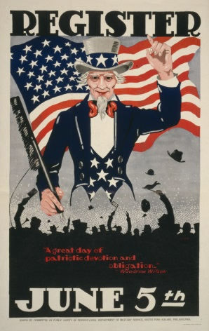 "Vintage World War Poster ""Register June 5th USA"""