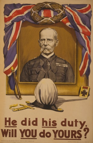 "Vintage WW1 British Poster ""He did his Duty will you do yours"""