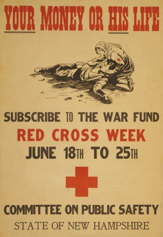 Vintage WW1 Poster for Red Cross Week