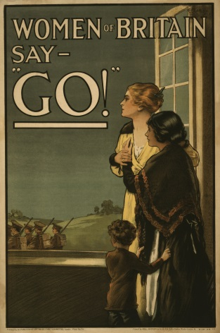 Vintage WW1 poster. Women of Britain say -