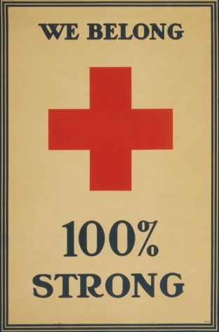 Vintage WW1 Red Cross Poster