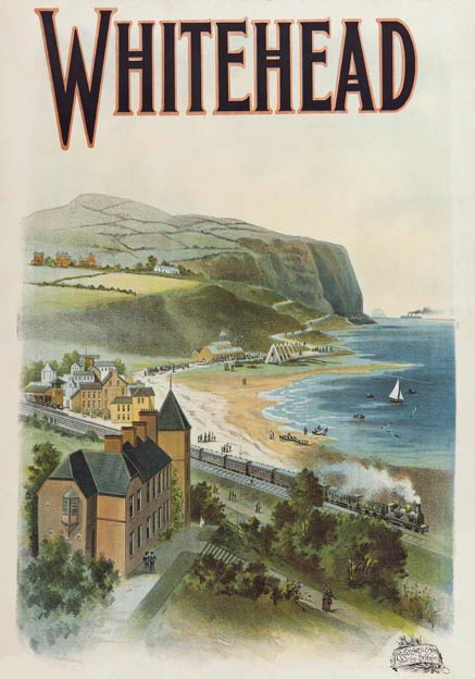 Whitehead Co Antrim Northern Ireland Vintage Irish Railway Travel Poster P