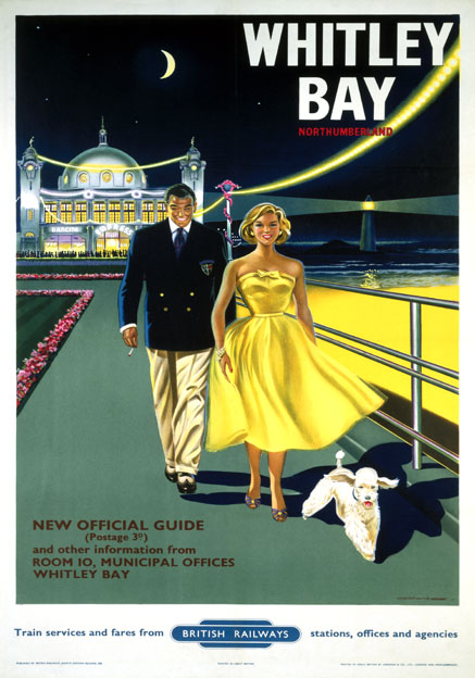 Whitley Bay, Spanish City, Northumberland. BR Vintage Travel poster by Bryan Davies. 1958