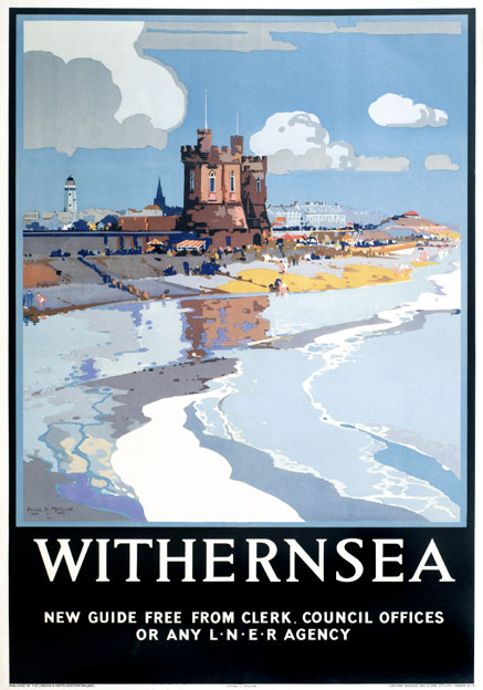 Withernsea, Yorkshire. Vintage LNER Travel poster by Frank Henry Mason.