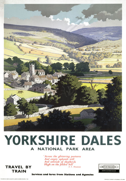Yorkshire Dales National Park Area Vintage Br Travel Poster By Ronald Lampitt 1961