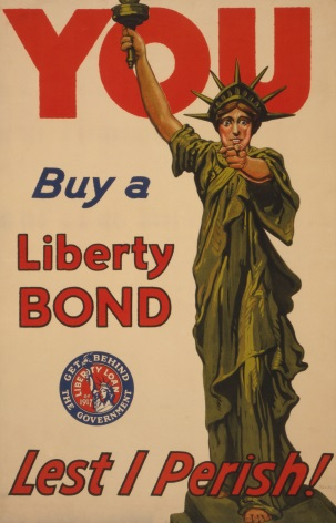 You--Buy a Liberty Bond--Lest I perish! Vintage American WW1 Poster.